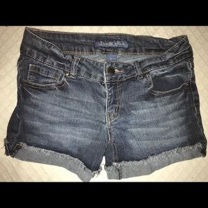 "Size 5 Brand New Blue ""Celebrity Pink"" Jean Shorts"